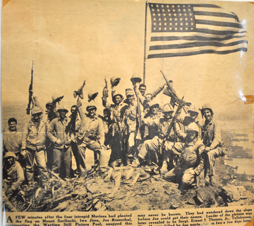 Group of Marines on Sirabachi Newspaper Clipping